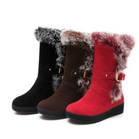 Rabbit Fur Snow Boots Women Shoes Winter 4771