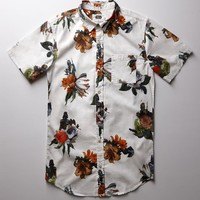 On The Byas - Star Wars Floral Woven Shirt - Mens Shirt - White