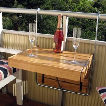 Flexitable balcony table from Dnice by Pher Viklund