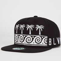 Blvd Ocean 2 Mens Snapback Hat Black/White One Size For Men 23150012501