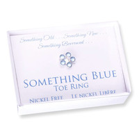 Something Blue Crystal Stretch Toe Ring