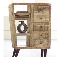 MANGO WOOD CABINET WITH FIVE DRAWERS