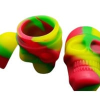 1 Piece Skull Screw Top Non-Stick Silicone Container