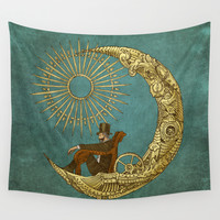 Moon Travel Wall Tapestry by Eric Fan