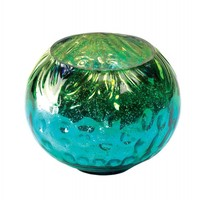 Mediterranean Swell Glass Candle Holder