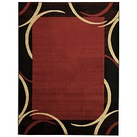 2801 Red Contemporary Area Rugs