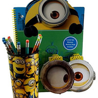 Despicable Me Minion Office Coworker Gift Set Pencils Cup Note Memo Pads