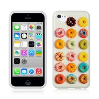 DONUTS TPU Gel Rubber Skin Cover Case for Apple iPhone 5C 2013 |In Twisted Tech Packaging|