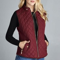 Just Chill'in Vest (Burgundy)