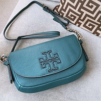 Tory Burch Retro Shoulder Bag Crossbody Bag Blue