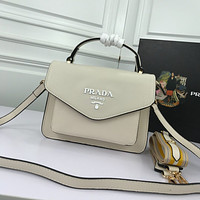 prada women leather shoulder bags satchel tote bag handbag shopping leather tote 12