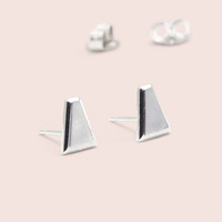 Tapered Baguette Studs (silver)