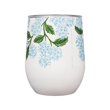 Rifle Paper Co. x Corkcicle Stemless - Cream Hydrangea