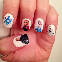 Frozen Nail Decals