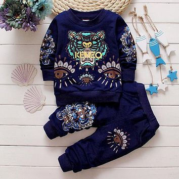 Vestidos Kid Clothes Baby Boys and Girls Spring Autumn Brand Suits 2pcs(Long Sleeve T-shirt+Pants) Sport Suits Unisex clothing
