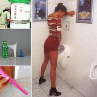 Outdoor Camping Soft Silicone Urination Device Stand Up & Pee Female Urinal Toilet Design Women Urinal Travel