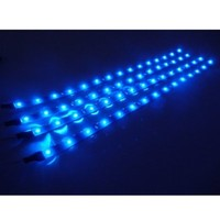 Cutequeen 30cm LED Car Flexible Waterproof Light Strip Blue (pack of 4)