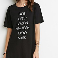 Cities and Planets High Slit Tee
