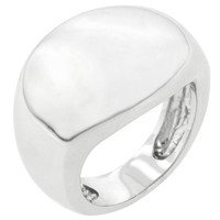Liquid Silver Fashion Ring, size : 09