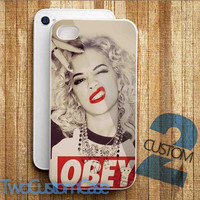 Marilyn Monroe Obey Style - iPhone 4/4S, 5/5S, 5C Case and Samsung Galaxy S3, S4 Case.