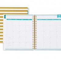Day Designer Gold Stripe Daily/Monthly 8 x 10 Planner July 2015 - June 2016
