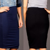 Solid Pencil Skirts