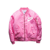 2017 Spring Hip-Hop Street Kanye West Yeezus Ma1 Pink Bomber Jacket Homme Season 3 Air Force One Fbi Jacket Men