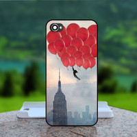 Vintage New York City Ballon  - Photo Print in Hard Case - For iPhone 4 / 4s Case , iPhone 5 Case - White Case, Black Case (CHOOSE OPTION )