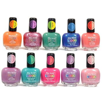 FULL SET of 10 MIA SECRET MOOD COLOR CHANGING NAIL POLISH LACQUER - MADE IN USA