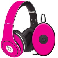 Hot Pink Decal Skin for Beats Studio Headphones & Carrying Case by Dr. Dre
