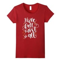 I Love Fall Most Of All Shirt Autumn Lover Gift