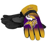 Minnesota Vikings Official NFL Gradient Big Logo Insulated Gloves