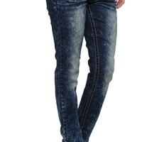 Almost Famous Skinny Jean with Marbled Acid Wash