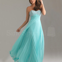 Attractive A-line Empire Waist Pleat Graduation Dress from SinoSpecial