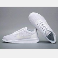 NIKE Cortez Forrest gump lovers shoes running shoes running shoes pure white soles H-M