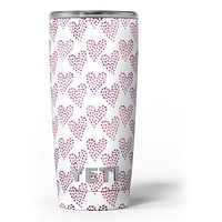 Pink and Red Mini Hearts of a Whole - Skin Decal Vinyl Wrap Kit compatible with the Yeti Rambler Cooler Tumbler Cups