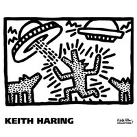 Untitled, 1982 (dogs with UFOs) Poster Print by Keith Haring