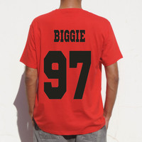 Small Biggie Shirt Back Number unisex Jersey hip hop tee rap rapper shirt, biggie small tank top also available