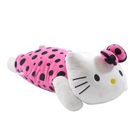 1pcs Kawaii 50*30cm Black Dots Pink Dress papa Hello Kitty Plush Dolls Christmas Gift For Kids,Stuffed Plush Toy Retail