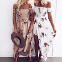 Fashion Sexy Strapless Long Dress