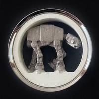 """Star Wars Plugs AT-AT Walker Pair 1"""" - 2"""" 316L Surgical Steel Tunnels 3D Printed 25mm 30mm 31mm 32mm 35mm 38mm 41mm 44mm 45mm 47mm 48mm 50mm"""