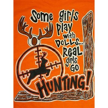SALE Southern Chics Funny Real Girls Hunt Deer Sweet Girlie Bright T Shirt