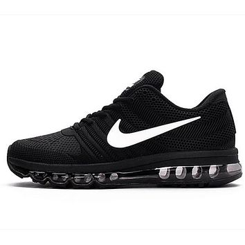 NIKE trend of plastic bottom casual shoes breathable running shoes Black and white
