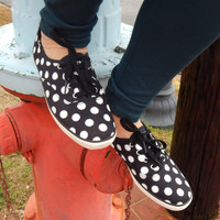 Keds Glitter Dot Sneakers {Black} Women's | 52157
