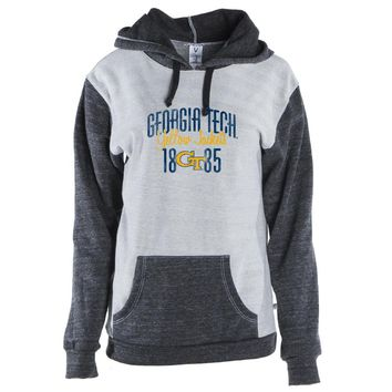 NCAA Georgia Tech Yellowjackets 01AMAN13 Mens/ Womens Color Block Hoodie