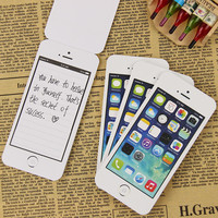 1 Pcs New Creative Notebook Sticky Post It Note Paper Cell Phone Shaped Memo Pad Office Supplies Stationery Gift