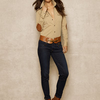 Leather-Patch Shirt