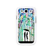 Love Song Romantic in the Rain Paint Custom Case for Samsung Galaxy S3/ S4/ S5 (white samsung galaxy S3)