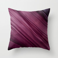 Purple Waves Throw Pillow by VanessaGF