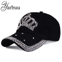 Trendy Winter Jacket [YARBUU]Baseball caps 2016 new fashion style men and women's Sun hat rhinestone hat denim and cotton snapback cap   AT_92_12